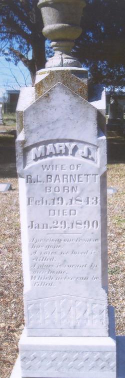 Mary Jane <I>Black</I> Barnett