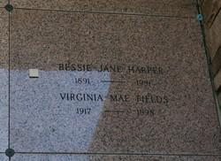 Virginia Mae <I>Jordan</I> Fields
