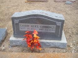 """Caroline Alice """"Carrie"""" Cummings"""