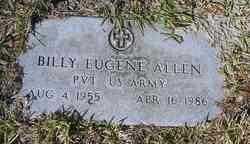 """Pvt William Eugene """"Billy"""" Allen"""