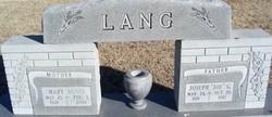 """Joseph G """"Joe"""" Lang"""