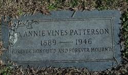 Annie L <I>Vines</I> Patterson