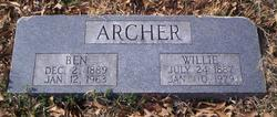 Willie <I>Henry</I> Archer