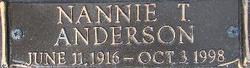 Nannie T. Anderson