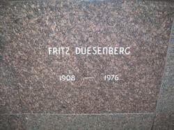 "Fredrick Pike ""Fritz"" Duesenberg"