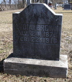 Lydia A. <I>McCarty</I> Brown