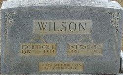 Pvt Walter Evon Wilson