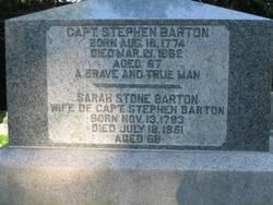 """Sarah """"Sally"""" <I>Stone</I> Barton"""