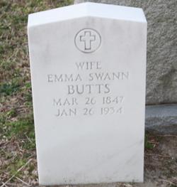 Alphronia Emma <I>Swann</I> Butts