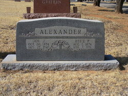 Effie Pickett <I>Robertson</I> Alexander