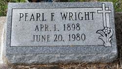 Pearl F <I>White</I> Wright