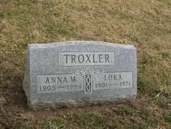 Anna M <I>Garriott</I> Troxler