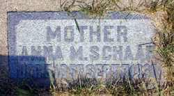 Anna Mary <I>Schleh</I> Schaaf