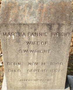 Martha Fannie <I>Eubanks</I> Wright