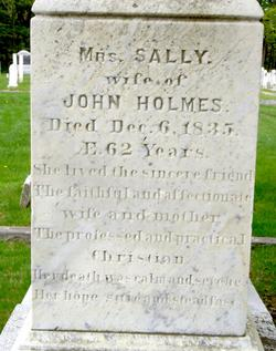 "Sarah Ann ""Sally"" <I>Brooks</I> Holmes"