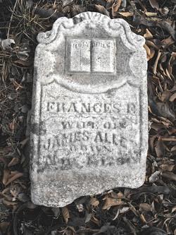 "Frances Flowers ""Fannie"" <I>Jones</I> Allen"