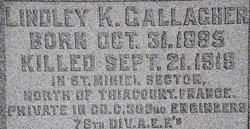 Pvt Lindley K. Gallagher