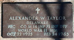 Alexander W Taylor
