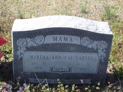 Martha Ann <I>Ray</I> Carter