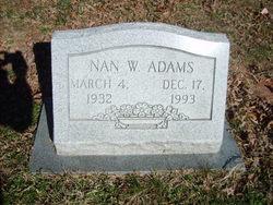 Nan <I>Watkins</I> Adams