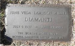 June Veda <I>Lambson</I> Diamanti