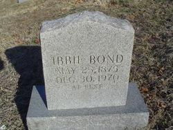 """Mary Isabell """"Ibbie"""" <I>Bullock</I> Bond"""