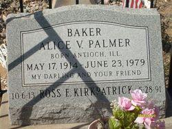 Alice Violet <I>Palmer</I> Baker