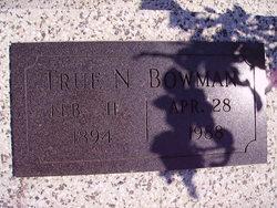 True Nannie Bowman