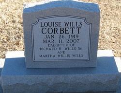 Louise <I>Wills</I> Corbett