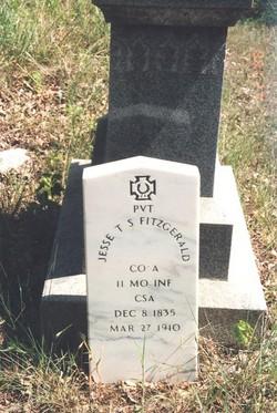 Pvt Jesse Thomas Schuyler Fitzgerald