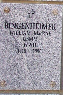 William MacRae Bingenheimer