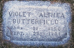 Violet Althea Butterfield