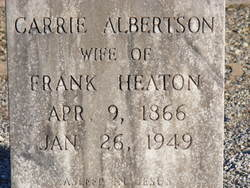 "Julia Caroline ""Carrie"" <I>Albertson</I> Heaton Crowe"
