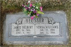 """James Delbert """"Del"""" Heusser"""