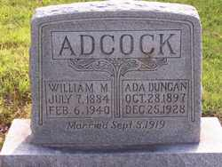 William M Adcock