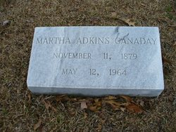 Martha Isabel <I>Adkins</I> Canaday