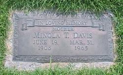 Minola <I>Thompson</I> Davis