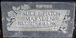 Alice <I>Lindsay</I> Marsden