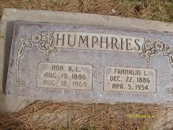 Ada Bell <I>Lee</I> Humphries
