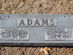 Amanda A. <I>Shoemate</I> Adams