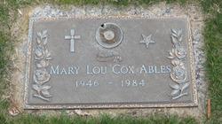 Mary Lou <I>Cox</I> Ables