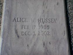 Alice <I>Warner</I> Hussey