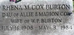 Rhena Merle <I>Cox</I> Burton