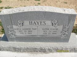 Marva <I>Sanders</I> Hayes