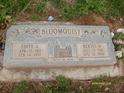 Edith Adelia <I>Pettit</I> Bloomquist