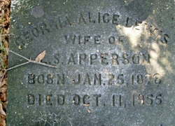 Georgia Alice <I>Lewis</I> Apperson