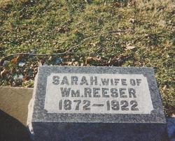 Sarah Ann <I>Hill</I> Reeser