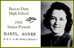 Agnes Clara <I>Hartl</I> Hafenstein