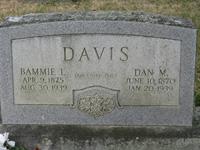 "Bama Laura ""Bammie"" <I>Birdwell</I> Davis"