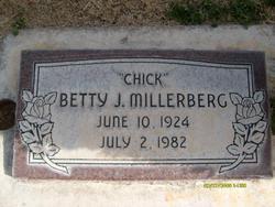 """Betty """"Chick"""" <I>Jensen</I> Millerberg"""